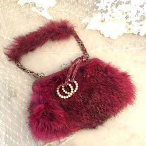 Bebe vintage mini bag real fur absolutely cutie⭐️
